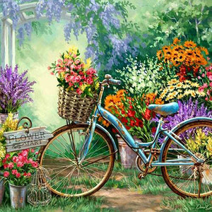 Flowers And The Bike