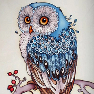 Free Owl Diamond Painting Kit