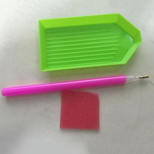 Diamond Painting Pen, glue & plastic tray set