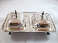 Silver-plate Dual Covered Buffet Server