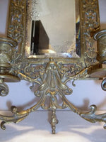 Antique Bronze Mirrored Dual Sconce