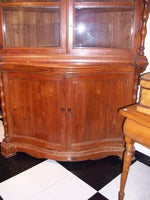 Henry Clay Pair Cherry Corner Cabinets