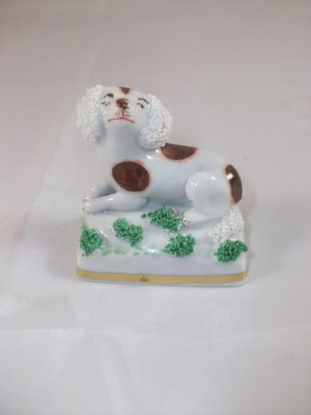 Antique Small Staffordshire Spaniel Dog