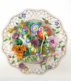 Chelsea House Reticulated Porcelain Flower Basket