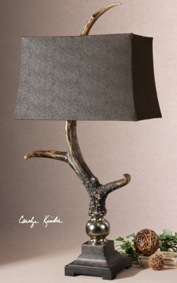 Faux Contemporary Stag Horn Lamp