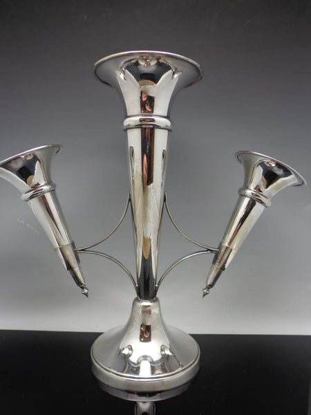 Mappin & Webb Silver Plate Epergne Trumpet Vase Antique