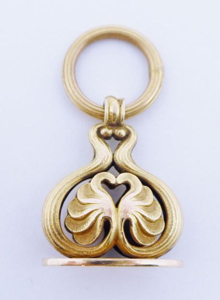 14K Gold Antique Watch Fob Seal Pendant