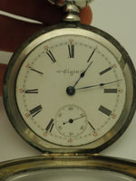 Antique Elgin Dueber Railroad Sterling Pocket Watch 1903
