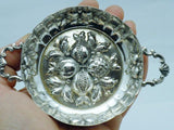 Antique Silver Austrian Pomegranate Berry Bowl