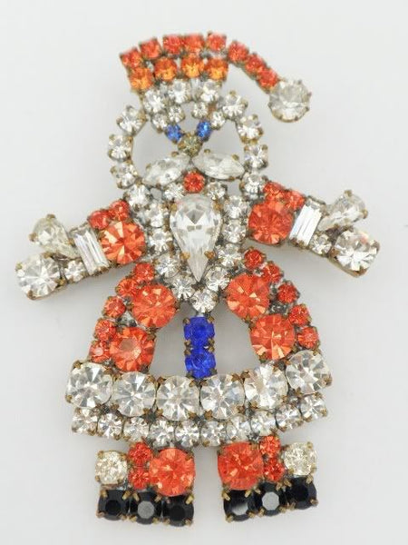 Czech Santa Claus Brooch University of Illinois Colors