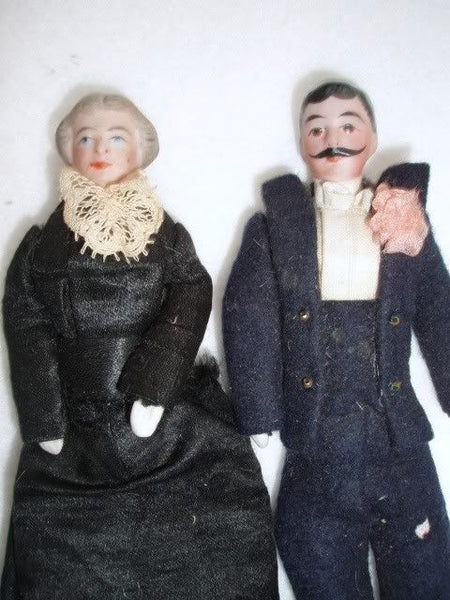 Antique Doll House Doll Couple German