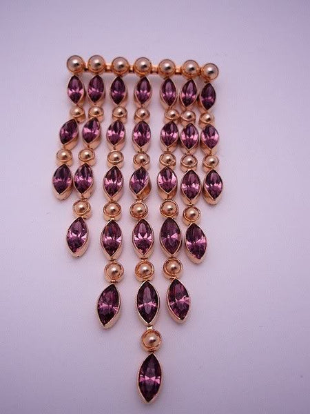 Czech Amethyst GF Paste Brooch