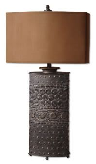 Bronze Finish Metal Lamp Shakia