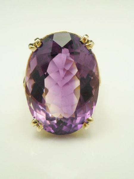 14k Oval Antique Amethyst Ring