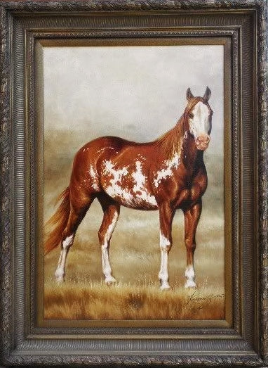 Oil Painting Appaloosa Horse Signed