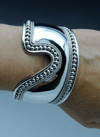 Artisan Crafted Sterling Bali Bangle Cuff Bracelet
