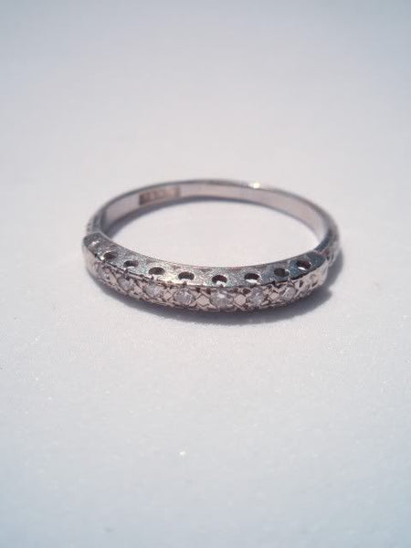 18k Antique Diamond Band Ring