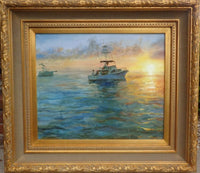 Fishing Excursion Boat Painting