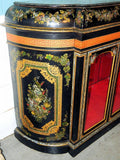 Windsor Castle Rare Paper Mache Mother Of Pearl Lacquer Vitrine