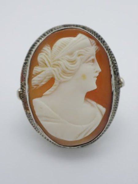 14k Antique Cameo Ring