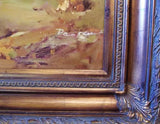 Wild west Cowboy Painting Oil Framed