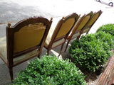 Antique French Aubusson Set of 4 Chairs