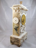 French Empire Alabaster Clock 1820
