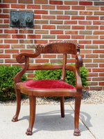 Antique Hand Carved Rosewood Corner Chair