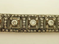 Antique Diamond Silver & Gold Bracelet