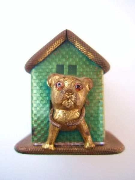 Antique Great German Bull Dog House Tape Measure