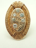 Antique 14K Diamond Tree of Life Ring