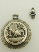 Antique Sterling Silver Perfume Snuff Flask