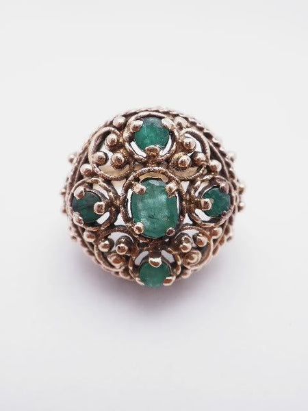 14k English Antique Emerald Ring