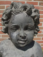 Bronze Classical Child With Fish Fountain