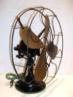 Antique Electric Brass Iron Fan