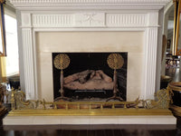 Antique French Brass Fire Place Fender 6'8""