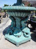 Classical Bronze Tiered Garden Fountain Water Feature Mermaids