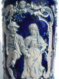 German Salt Glaze Large Lidded Urn