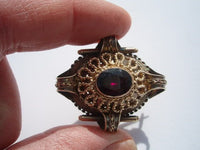 Antique Georgian English 15K Garnet Brooch
