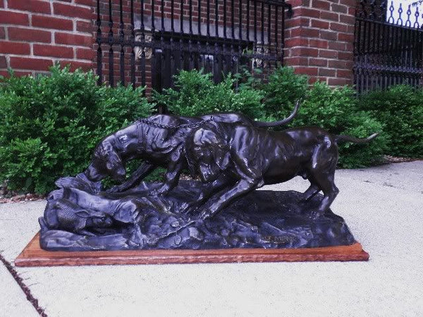 Bronze Hunting Hounds Sculpture