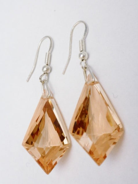 Sterling Silver Honey Quartz Earrings