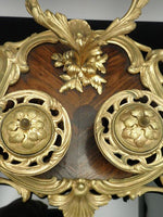 Antique French Ormolu Inkwell Wood Base