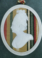 Early Antique Hand Carved Ivory Portrait in Ivory Frame