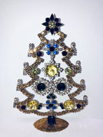 Vintage Czech Rhinestone Mantle Tree # 201