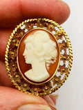 Antique 18K Yellow Gold Cameo Italy