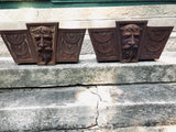 English Antique Victorian Iron Door Lintel Pediment Header