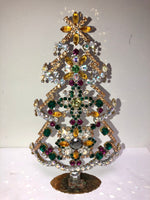 Vintage Convex Crystal Christmas Mantle Tree # 187