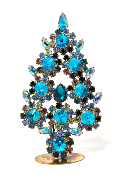 Czech Crystal Mantle Tree Turquoise # 125