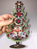 Czech Crystal Mantle Christmas Tree # 179