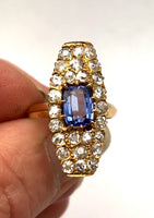 18k Antique Tanzanite Diamond Ring